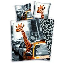 Young Collection, Komplet pościeli, 140x200 cm, żyrafa