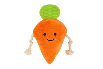 Zabawka pluszowa dla psa - marchewka CHICO, pomarańczowo-zielona, 15,5 cm-Chico