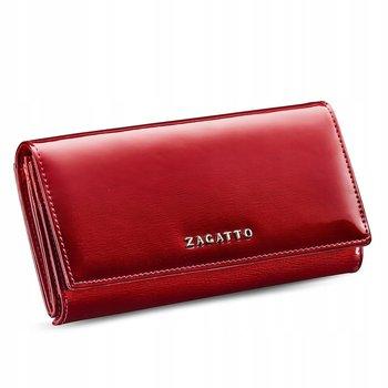Zagatto, Portfel skórzany damski, czerwony, ZG-46-SH RED-Zagatto
