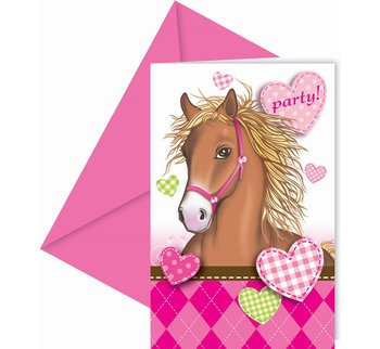 Zaproszenia, Decorate Horses, 6 sztuk