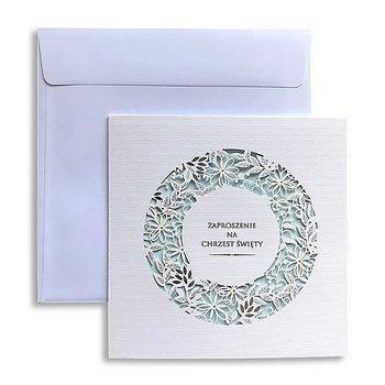 Zaproszenia na chrzest, białe, 10 sztuk-Forum Design Cards