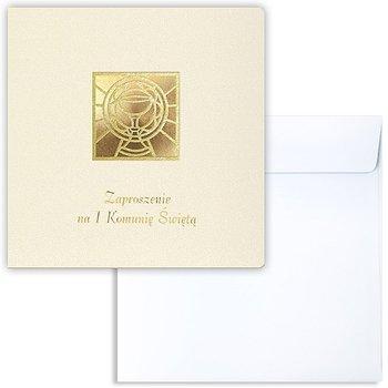 Zaproszenia na komunię, ecru, 10 sztuk-Forum Design Cards