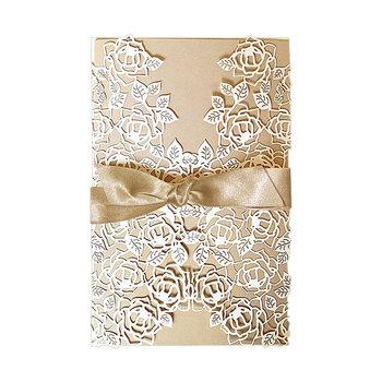 Zaproszenia na ślub, 10 sztuk - do samodzielnego nadruku-Forum Design Cards