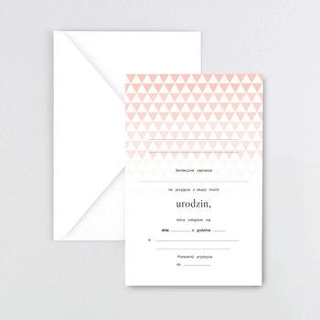 Zaproszenia na urodziny, Triangle, 5 sztuk-LILY ZAPROSZENIA