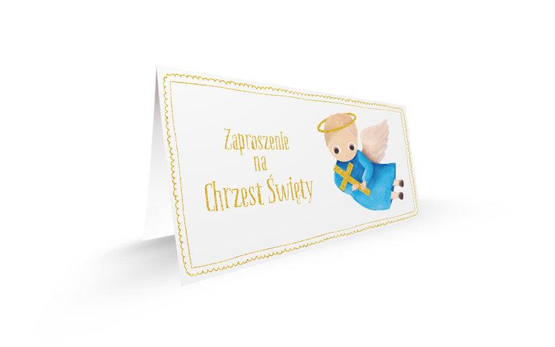 Zaproszenie Chrzest święty Chłopiec 5 Sztuk Sklep Empikcom