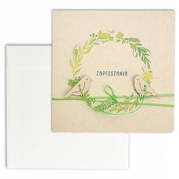 Zaproszenie na ślub, beżowe, 10 sztuk-Forum Design Cards