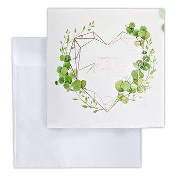 Zaproszenie na ślub, białe, 10 sztuk-Forum Design Cards