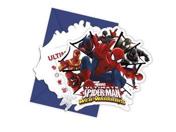 Zaproszenie z kopertą Spiderman - 6 szt-Aster