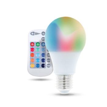 Żarówka LED E27 A60 RGB + Biały 9W z pilotem 720lm Forever Light-Telforceone