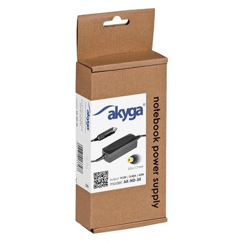 Zasilacz do notebooka Acer AKYGA AK-ND-34, 19 V, 5.5x1.7 mm-Akyga