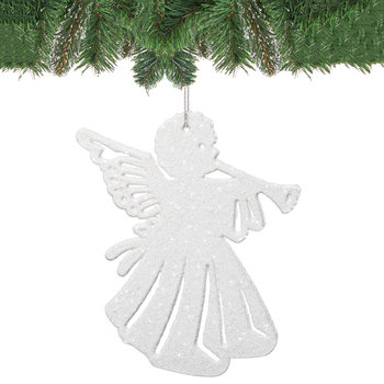 Zawieszki choinkowe SPRINGOS, aniołki, białe, 11 cm, 6 szt.-Springos