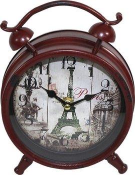Zegar a`la budzik Retro, brązowy, 21x16x6 cm-Pigmejka