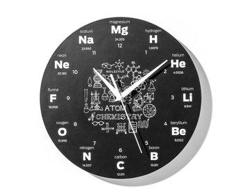 Zegar GADGET MASTER Chemika, czarny, 30 cm-GADGET