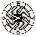 Zegar ścienny Art Deco, czarny, 78 cm-Tolonensis Creation