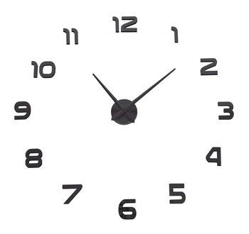 Zegar ścienny DIY NEPRI 65 - 130 cm - czarny 3D-GMM