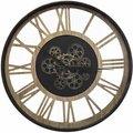 Zegar ścienny loftowy ATMOSPHERA, czarno-brązowy, 57 cm-Atmosphera