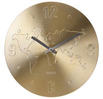 Zegar ścienny, mapa świata, 35 cm