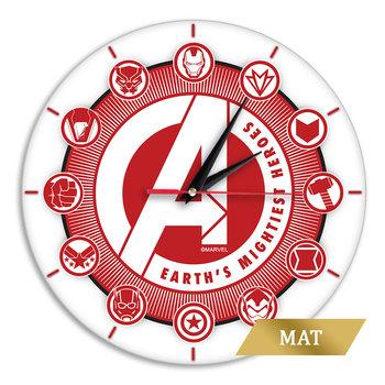 Zegar ścienny matowy Avengers 005 Marvel Biały-Marvel