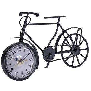 Zegar stojący Rower, czarny, 13x23x7 cm-DekoracjaDomu.pl