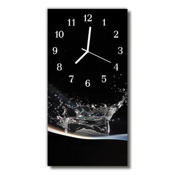 Zegar szklany pionowy Kuchnia Kropla woda -Tulup