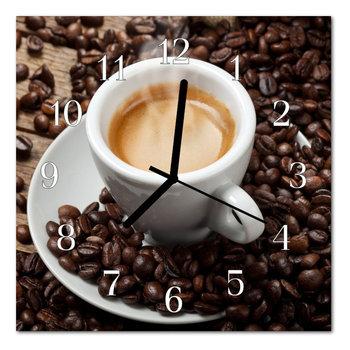 Zegar szklany ścienny Cichy Kubek do kawy Kuchnia-Tulup