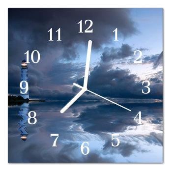 Zegar szklany ścienny Cichy Latarnia morska -Tulup