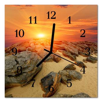 Zegar szklany ścienny Cichy Zachód słońca Natura-Tulup