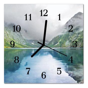 Zegar szklany ścienny Jezioro górskie Krajobraz-Tulup