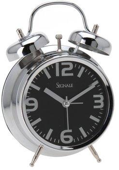 Zegar z budzikiem SEGNALE Retro, czarny, 6x16x12 cm-Segnale