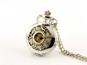 Zegarek kwarcowy DROBINY CZASU Listki, srebrny-Drobiny Czasu