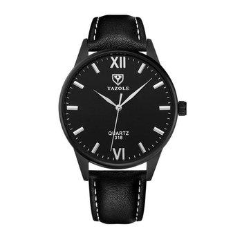 Zegarek męski yazole czarny, czarna tarcza czarny pasek ZM92WZ3-KEMER