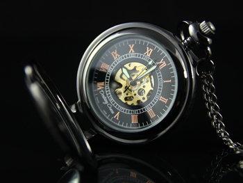 Zegarek na łańcuszku Elegancja Czerni I Glove, czarny-Drobiny Czasu