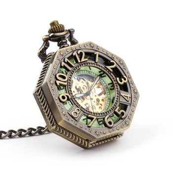 Zegarek na łańcuszku Tessaract II, złoty-Drobiny Czasu