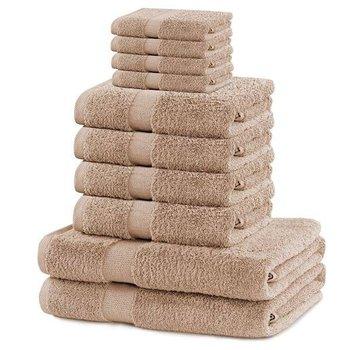 Zestaw 10 ręczników Marina beżowy DecoKing-DecoKing