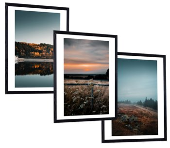 Zestaw 3 nowoczesnych obrazów w ramie, 30x40 cm- Seria Natura-Postergaleria