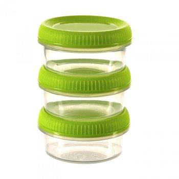 Zestaw 3 pojemników na sos CURVER Smart To Go, zielony-Curver