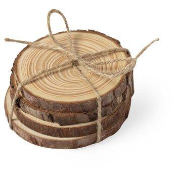 Zestaw 4 drewnianych podkładek UPOMINKARNIA-UPOMINKARNIA
