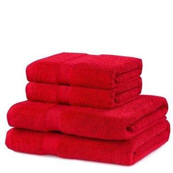 Zestaw 4 ręczników Marina bordowy DecoKing-DecoKing