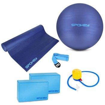 Zestaw 5w1 mata kostka do jogi zestaw taśm piłka gimnastyczna + pompka 928925 ASTEYA Spokey-Spokey