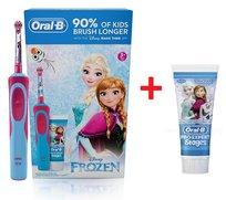 Zestaw BRAUN ORAL-B, Szczoteczka elektryczna Stages Power Frozen, 7600 obr/min + pasta do zębów Oral-B Pro-Expert Stages z fluorem, 75 ml