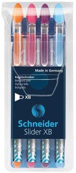 Zestaw długopisów, Slider Basic XB, 4 kolory-Schneider