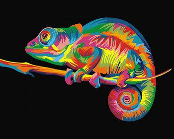 Zestaw do malowania po numerach, Tęczowy kameleon-Brushme