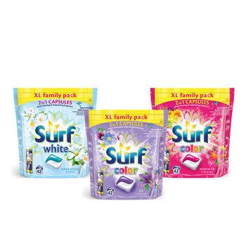 Zestaw Kapsułki do prania białego i kolorowego SURF, 3x42 szt.-Unilever Polska Sp. z o.o.