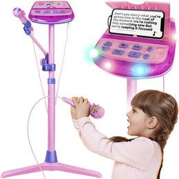 Zestaw Karaoke dla Dzieci Stojak + Mikrofon na MP3 ISO TRADE