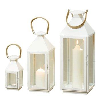 Zestaw lampionów, białe, 3 szt.