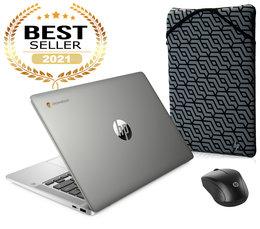Zestaw Laptop HP Chromebook 14A-NA0023 Intel Celeron, 4 GB RAM, 64 GB eMMC Chrome OS + Etui + Mysz