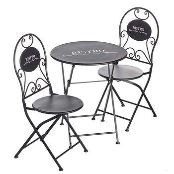 Zestaw ogrodowy Bistro stolik + 2 krzesła, 62 x 62 x 71 cm-Dekoria