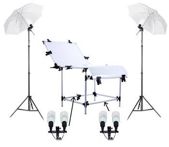 Zestaw oświetleniowy + stół bezcieniowy MASSA, 60x130 cm-Massa