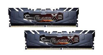 Zestaw pamięci G.SKILL FlareX AMD F4-3200C16D-32GFX (DDR4 DIMM; 2 x 16 GB; 3200 MHz; CL16)-G.SKILL
