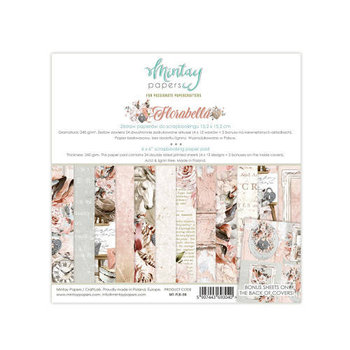 Zestaw papierów do scrapbookingu, Florabella, 15x15 cm-Mintay Papers